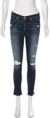 Rag & Bone Mid-Rise Capri Skinny Jeans