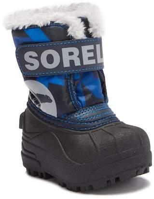 Sorel Snow Commander Print Faux Fur Boot (Toddler)