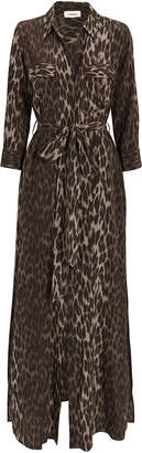 L'Agence Cameron Leopard Print Shirtdress