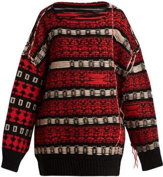 Calvin Klein Inside Out Wool Blend Sweater - Womens - Red Multi