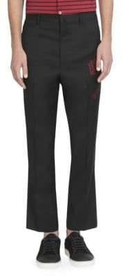 Lanvin Straight Leg Wool Trousers