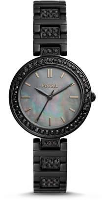 Fossil Karli Three-Hand Black Stainless Steel Watch