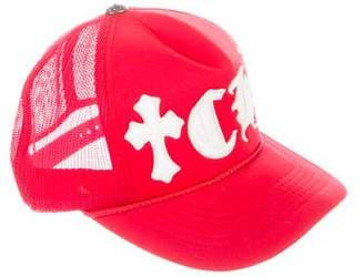 Chrome Hearts Leather-Trimmed Trucker Hat