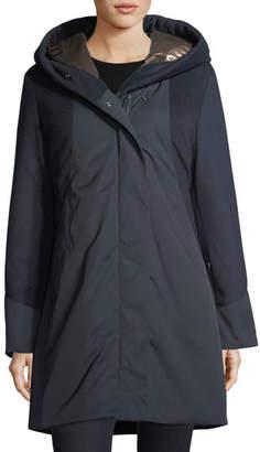 Post Card Weisshorn Mixed-Media Zip-Front Coat