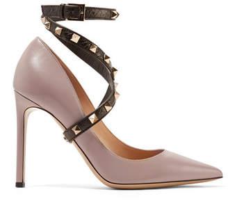 Valentino Garavani Studwrap Leather Pumps - Blush