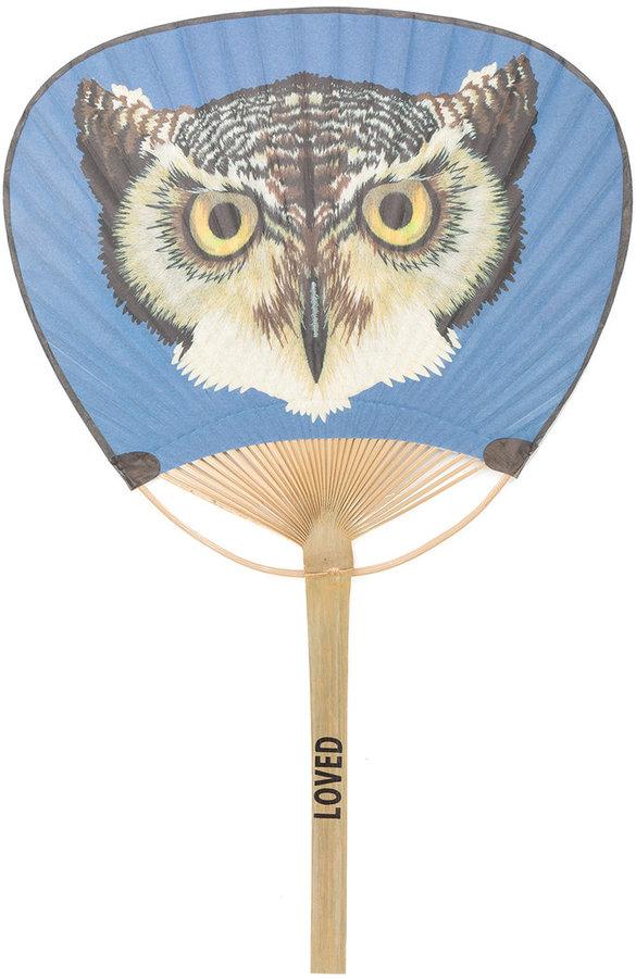 Gucci owl printed hand fan
