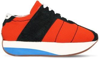 Marni 40mm Suede & Mesh Platform Sneakers