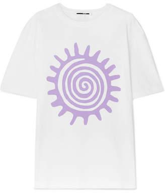 McQ Printed Cotton-jersey T-shirt - White