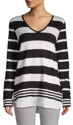 Calvin Klein Striped Long-Sleeve Sweater