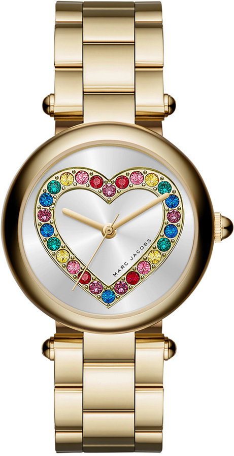 Marc JacobsMarc Jacobs Women's Dotty Gold-Tone Stainless Steel Bracelet Watch 34mm MJ3544