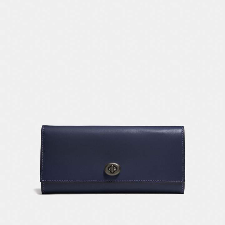Coach Envelope Wallet - MIDNIGHT NAVY/BLACK COPPER - STYLE