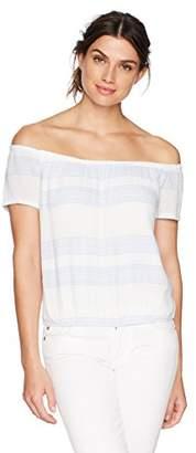 Monrow Women's Short Sleeve Off Shoulder Top