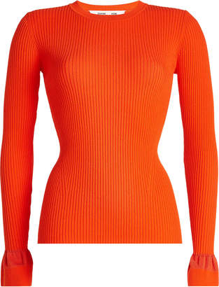 Diane von Furstenberg Knit Pullover with Statement Cuffs