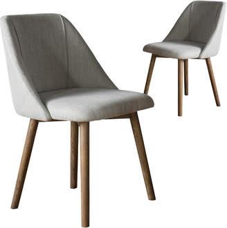Ash Bella Casa Set of 2 Arthur Wood Dining Chairs