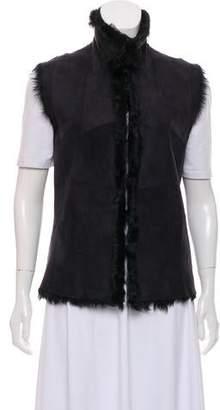 Ann Demeulemeester Lamb Fur Vest