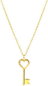Mini Golden Love Key Necklace