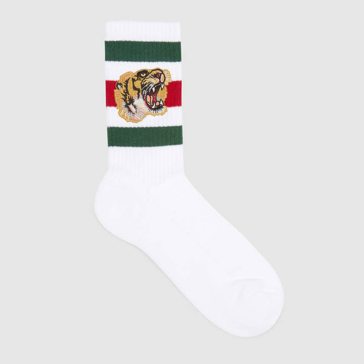 Stretch cotton socks with tiger 4