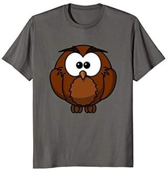 Cartoon Brown Owl T-Shirt