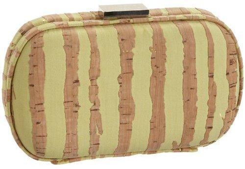 SONDRA ROBERTS NEW YORK Cork Rounded Box Clutch