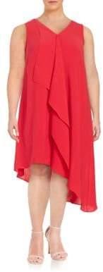 Adrianna Papell Ruffled Chiffon Dress