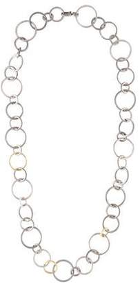 Gurhan Two-Tone Round Link Necklace