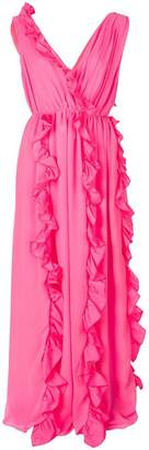 MSGM ruffle trim draped dress