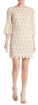 Trina Turk Quinn 3/4 Crochet Knit Dress