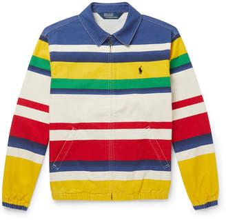 Polo Ralph Lauren Striped Cotton Blouson Jacket