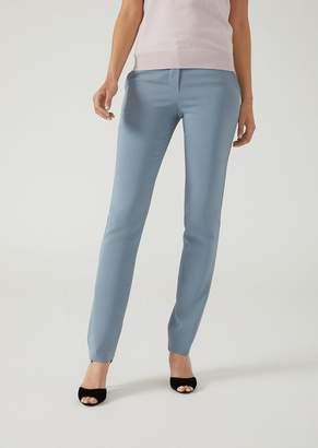Emporio Armani Stretch Fabric Cigarette Trousers