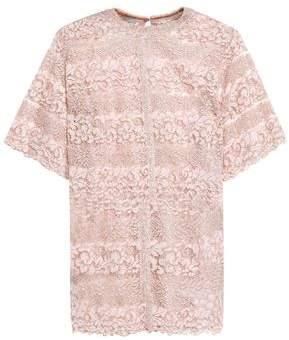 Valentino Metallic Cotton-blend Lace Top