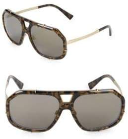 Dolce & Gabbana 61MM Camo Print Aviator Sunglasses
