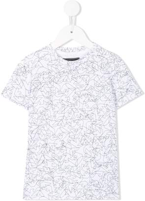 Emporio Armani Kids all-over logo T-shirt