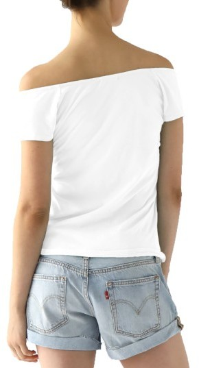 Women's Lamade Imelda Tissue Jersey Off The Shoulder Tee 3