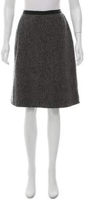 Behnaz Sarafpour Wool Bouclé Skirt Grey Wool Bouclé Skirt
