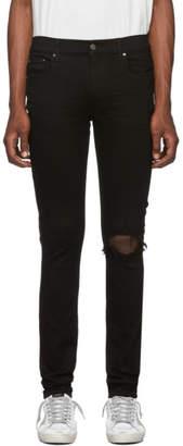 Amiri Black Broken Jeans