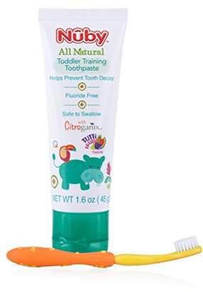 Nuby All Natural Toddler Toothpaste with Citroganix with Toothbrush ()