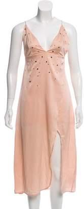 For Love & Lemons Twinkle Satin Midi Dress w/ Tags