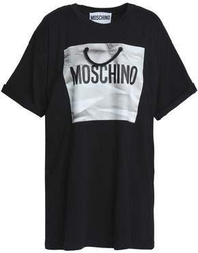 Moschino Embellished Printed Cotton-Jersey T-Shirt