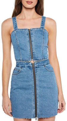 Bardot Denim Pinafore Dress