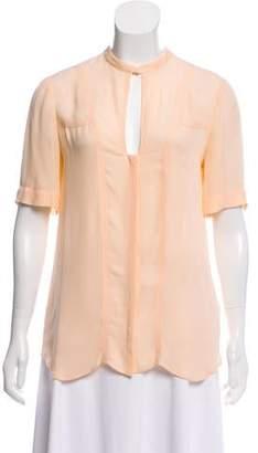 A.L.C. Button-Up Silk Blouse