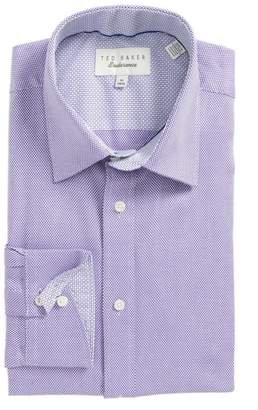 Ted Baker Endurance Trim Fit Dobby Dress Shirt