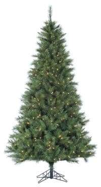 Fraser Hill Farms Smart String Pre-Lit Canyon Pine Artificial Christmas Tree - White - 9 Ft.