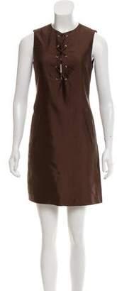 Michael Kors Lace-Up Mini Dress