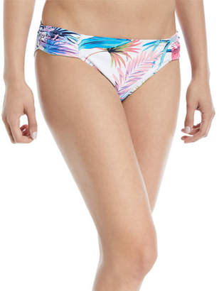 Tommy Bahama Fronds Ferdinan Reversible Side-Shirred Hipster Swim Bikini Bottoms