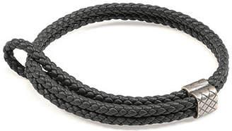 Bottega Veneta Men's Woven Leather Bracelet