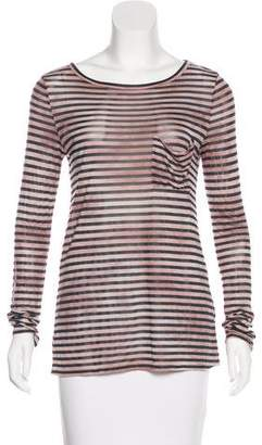 Elizabeth and James Striped Long Sleeve Top