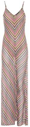 Y/Project Striped cotton-blend maxi dress