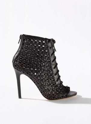 Miss Selfridge Hilary woven stiletto heel sandals
