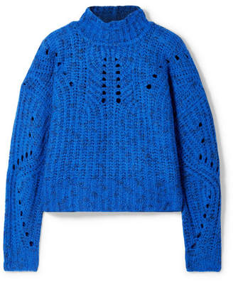 Isabel Marant Jilly Merino Wool Turtleneck Sweater - Blue