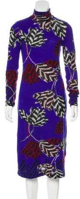 Marc Jacobs Long Sleeve Intarsia Dress
